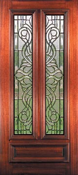 Stained glass windows beveled glass doors and leaded glass exterior doors stained glass french doors planetlyrics Gallery