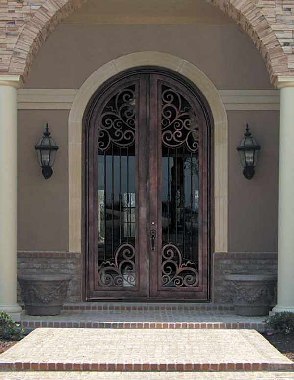 Antique Beveled Glass And Leaded Glass Entry Doors