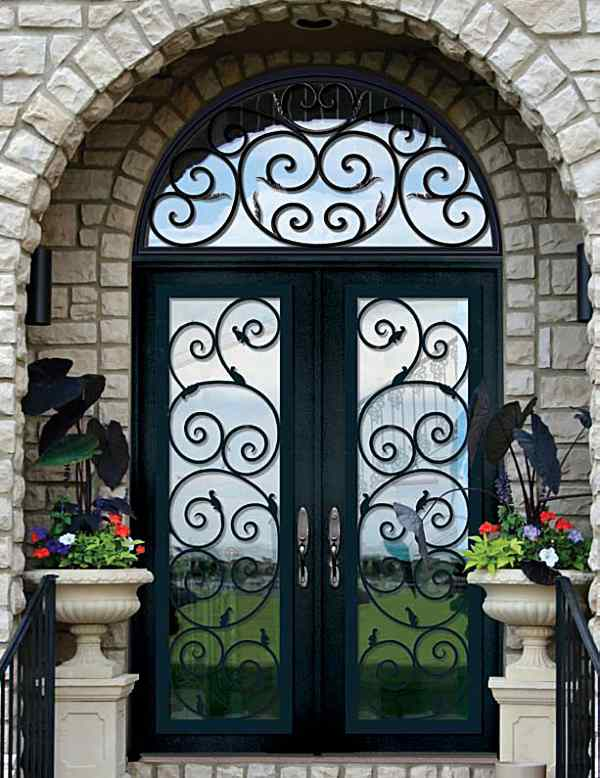 Black Orvietto - Beveled Glass and Leaded Glass Entry Doors Houston -  Beaumont, Texas - Black Orvietto - Beveled Glass And Leaded Glass Entry Doors Houston