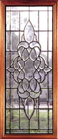 Jefferson clear leaded glass