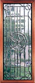 Austin clear leaded glass doors