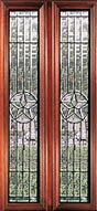 Austin clear leaded glass