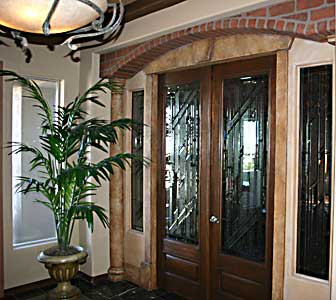 Custom Leaded glass entry