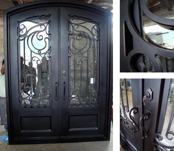 Forged Iron Entry Doors Custom Designed Exterior Iron Doors Texas