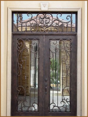 Forged Iron Entry Doors Custom Designed Exterior Iron