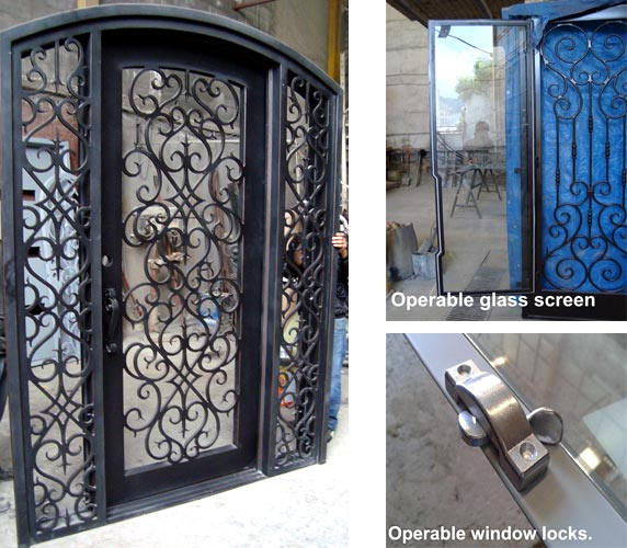 Forged Iron Doors : Forged iron entry doors custom designed exterior