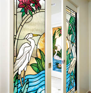 Stained glass doors beveled glass doors and leaded glass doors double entry bath doors planetlyrics Gallery
