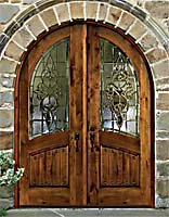 Click here for Larger Pic - Leaded Beveled glass entry