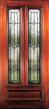 Texas Custom Leaded Glass Doors Beveled Glass French