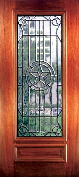 Texas Custom Leaded Glass Doors Beveled Glass French