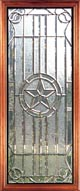Austin clear beveled leaded glass