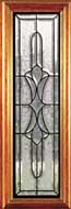 Leaded glass doors
