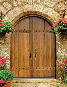 Wood Panel Entry Doors Solid Wood Panel Exterior Doors Custom ...